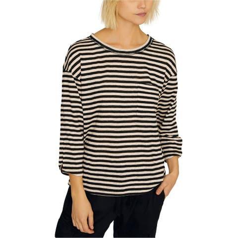 Sanctuary Clothing Womens Emmett Linen Basic T-Shirt