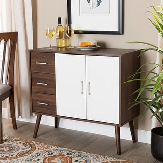 Link to Carson Carrington Agnew Mid-century Modern 3-drawer Sideboard Buffet Similar Items in Dining Room & Bar Furniture