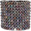 D'AMA 10 Strand Freshwater Cultured Pearl Womens Stretch Bracelet With Stainless Steel Beads - Thumbnail 1
