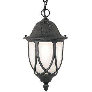 """Designers Fountain 2864-BK 1 Light 11"""" Cast Aluminum Hanging Lantern from the Capella Collection"""
