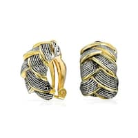 17aebe08b743c Shop Twisted Rope Cable Large Hoop Earrings For Women For Teen 18K ...