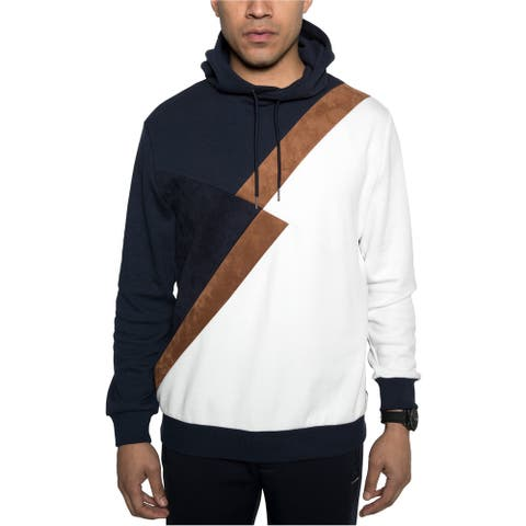 Sean John Mens Fractured Hoodie Sweatshirt, Blue, Medium