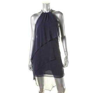 Laundry by Shelli Segal Womens Chiffon Embellished Semi-Formal Dress