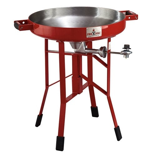 Firedisc Deep 24 Red Portable Cooker w/ 3 Zone Surface Temperatures