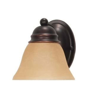 """Nuvo Lighting 60/3125 Empire Single Light 6.3"""" Wide Bathroom Sconce with Alabaster Bell Glass Shade"""