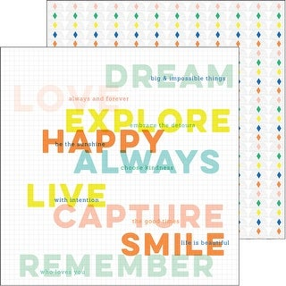 """Dream On Double-Sided Cardstock 12""""X12""""-Aspire"""