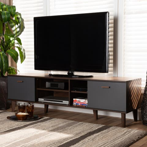 Moina Mid-Century Modern Two-Tone TV Stand
