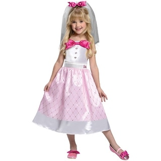 Girls Bride Barbie Toy Halloween Costume - 2t-4t