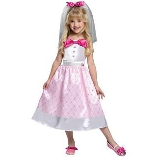 Girls Bride Barbie Toy Halloween Costume - 2t-4t