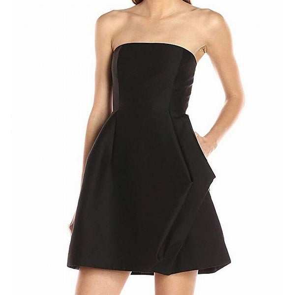 25b0bb9ae6df Halston Heritage Black Women's Size 6 Pleated Pocket Sheath Dress