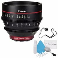 Canon CN-E 85mm T1.3 L F Cine Lens (International Model) + Deluxe Cleaning Kit + Lens Cap Keeper Bundle (AF6CANCNE8513LFB2)