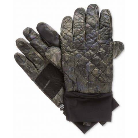 Isotoner Signature Dark Olive Camo Quilted Size L/XL Men's Winter Gloves