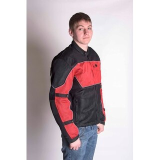 RoadDog Hurricane Mesh Jacket Motorcycle Riding Jacket Red Men's