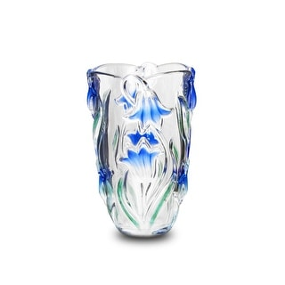 Studio Silversmiths Blue Danube Collection Crystal Vase