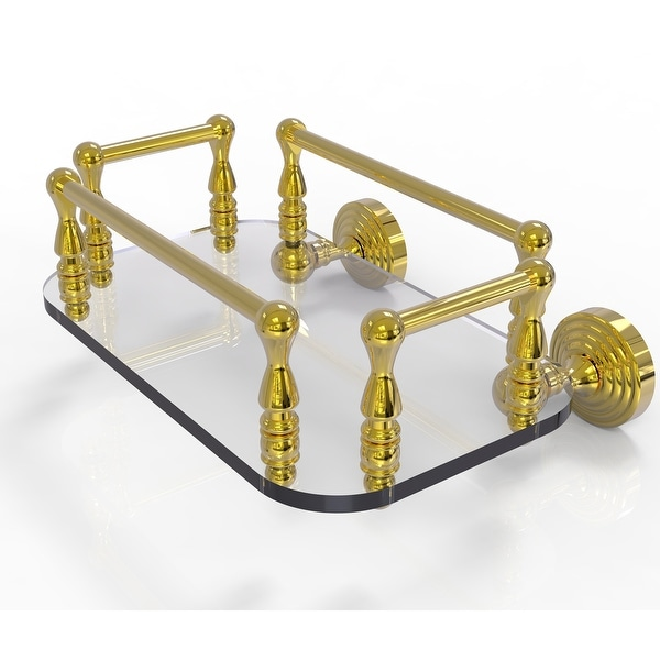 Allied Brass Waverly Place Collection Wall Mounted Glass Guest Towel Tray