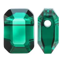Swarovski Elements Crystal, 5514 Pendulum Beads 8x5.5mm, 2 Pieces, Emerald