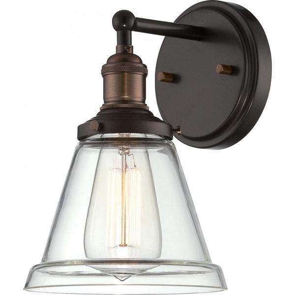 "Nuvo Lighting 60/5512 Vintage 6.5"" Width 1 Light Bathroom Sconce in Rustic Bronze"