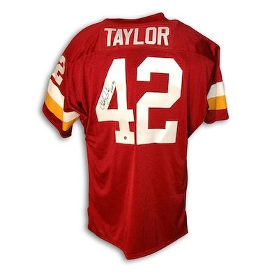 watch b733e e9760 Autographed Charley Taylor Washington Redskins Red Throwback Jersey  Inscribed