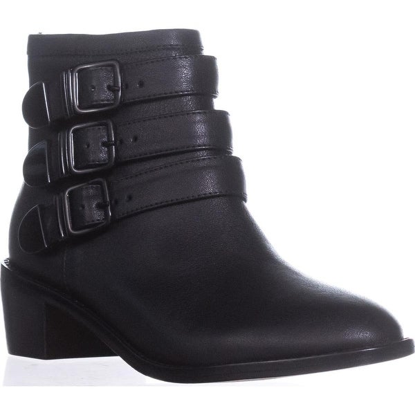 Loeffler Randall Fenton Triple Buckle Booties, Black - 5.5 us