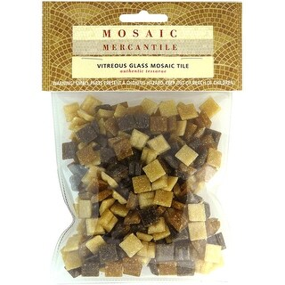 Vitreous Glass Mosaic Tiles .5lb-Earthtones