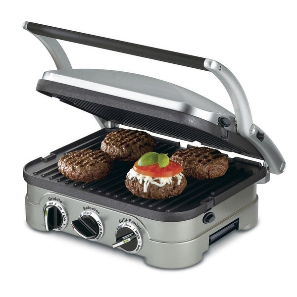 Cuisinart GR-4N 5-in-1 Silver Countertop Griddler with Reversible Plates. Opens flyout.