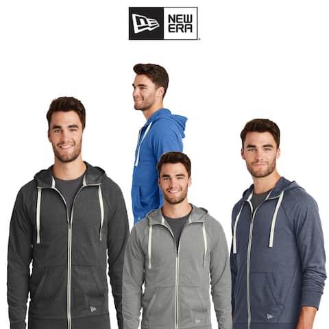 New Era Men's Sueded Cotton Blend Full-Zip Hoodie