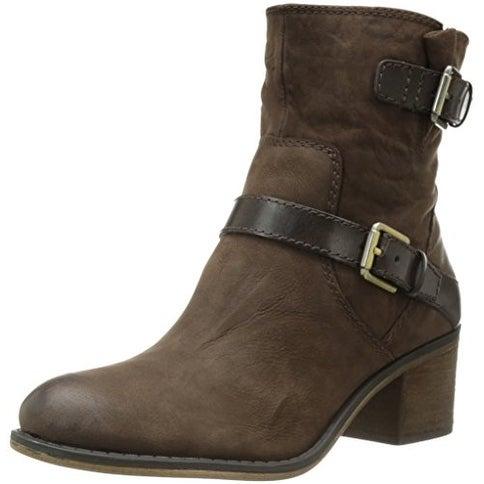 Franco Sarto Womens L-LARISA2 Leather Almond Toe Ankle Fashion Boots