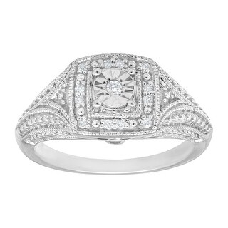 1/10 ct Diamond Vintage-Style Ring in Sterling Silver