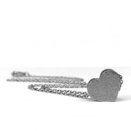 Loralyn Designs Matte Stainless Steel Heart Slide Pendant Necklace
