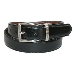Nautica Boys' Glove Calf Leather Reversible Dress Belt (Pack of 2) - Black