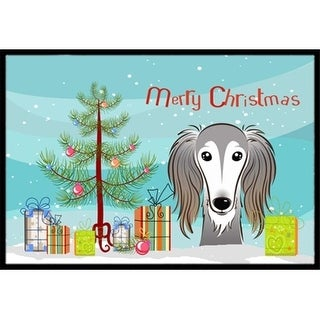 Carolines Treasures BB1601JMAT Christmas Tree & Saluki Indoor or Outdoor Mat 24 x 36