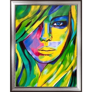 Helena Wierzbicki 'Urban Camouflage' Hand Painted Oil Reproduction