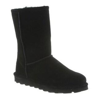 Bearpaw Women's Elle Short Boot Black II Suede