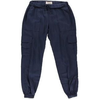 Joie Womens Linen Cargo Jogger Pants