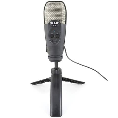 CAD Audio U39 usb microphone w/ headphone output, Tripod stand & Cable