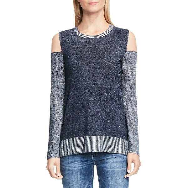 1a2e86965b317e ... Long Sleeve Shirts. Two by Vince Camuto Womens Pullover Top Cold  Shoulder Mixed Media