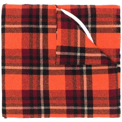 Moncler Mens Orange Large Logo Scarf