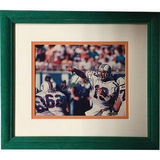 Dan Marino signed Miami Dolphins 8x10 Horizontal Photo #13 Premium Teal Framing- UDA Hologram # BAD41904