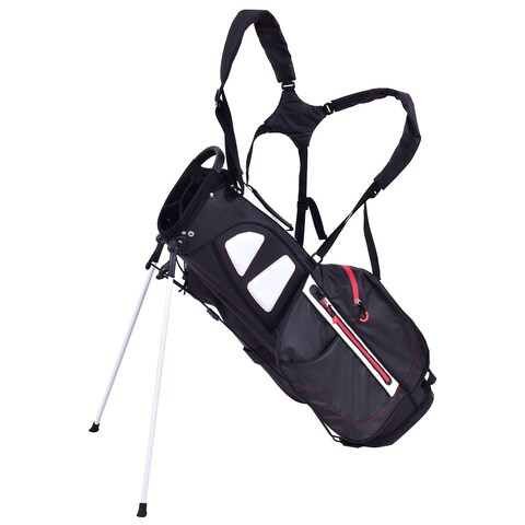 Gymax 8.5'' Golf Stand Cart Bag Club 5 Way Divider Carry