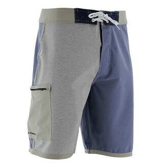 Huk Men's Piped Heather Size 28 Heather Navy Boardshorts