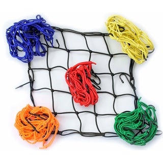 Race-Driven Motorcycle ATV Cargo Net 15 x 15 inch with 6 Hooks Mesh Web