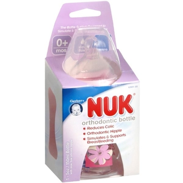 NUK Orthodontic Bottle 5-Ounce Slow Flow 1 Each