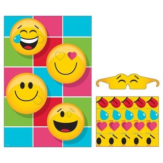 Pack of 6 Yellow and Black Show Your Emoji Themed Pin Game 10.75