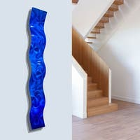 Statements2000 Blue Abstract 3D Metal Wall Art Accent Sculpture by Jon Allen - Blue Wave