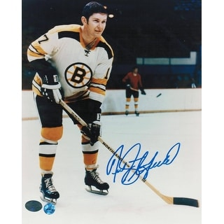 Fred Stanfield Boston Bruins Autographed 8x10 Photo -On the Ice-