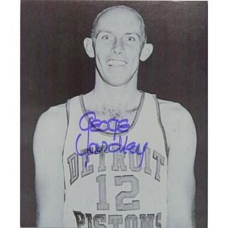 Signed Yardley George Detroit Pistons 8x10 BW Photo autographed