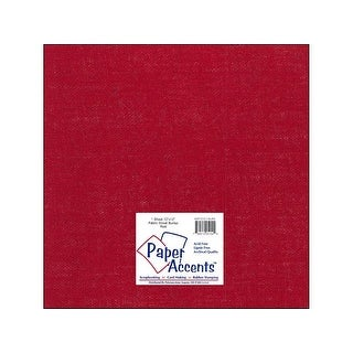 Fabric Sheet 12x12 Burlap Red 1pc