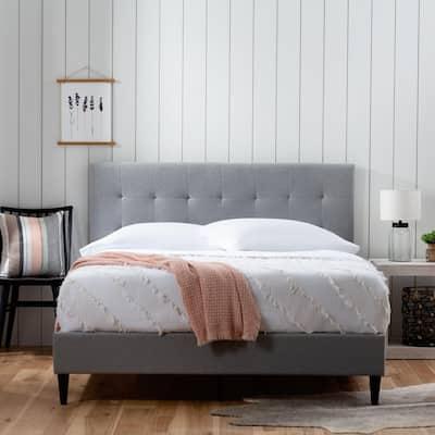 Brookside Tara Square Tufted Upholstered Platform Bed