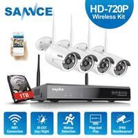 SANNCE 4CH Wireless 720P CCTV Security Cameras System