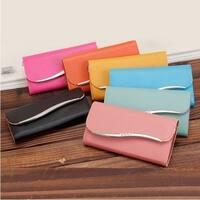Leather Woman Wallets Fashion  Women Clutch Candy Color Bolsas Feminios Bag